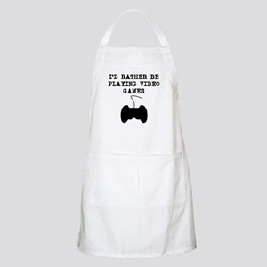 Id Rather Be Playing Video Games Apron