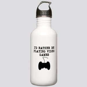 Id Rather Be Playing Video Games Water Bottle