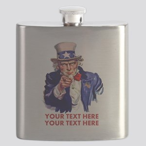 Personalize Uncle Sam Flask