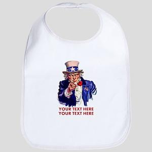 Personalize Uncle Sam Bib