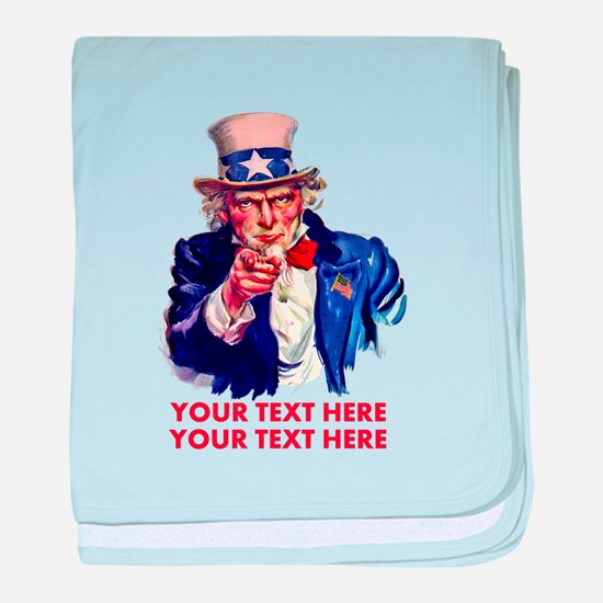 Personalize Uncle Sam baby blanket