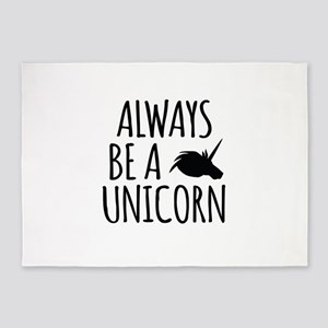 Always Be A Unicorn 5'x7'Area Rug