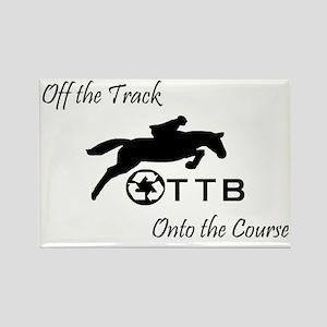 OTTB Horse Rectangle Magnet