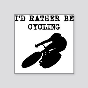 Id Rather Be Cycling Sticker