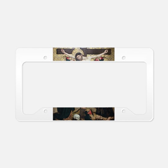 Crucifixion License Plate Holder