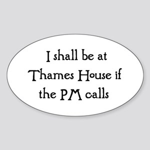 thames Sticker (Oval)