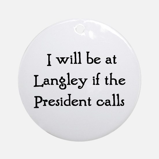 langley Ornament (Round)