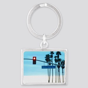 Pacific Coast Highway Sign Cali Landscape Keychain