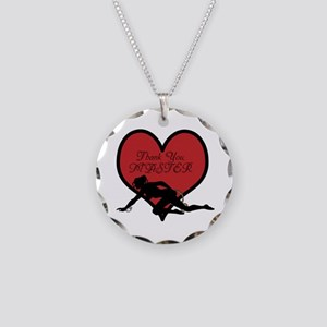 Thank You, Master. Necklace Circle Charm