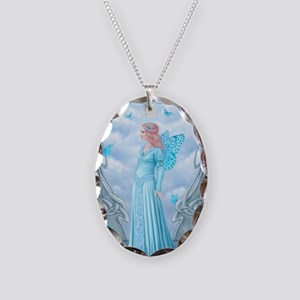 Aquamarine Birthstone Fairy Necklace