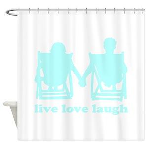 Live Love Laugh Shower Curtains