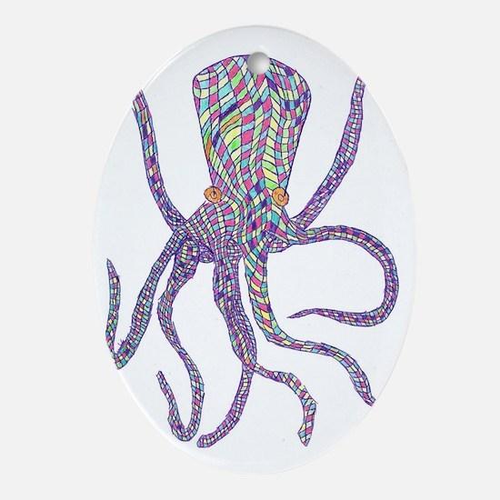 Syd Barrett's Octopus Oval Ornament