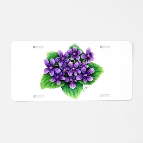 Violets Aluminum License Plate