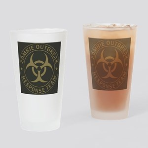 Zombie Outbreak Response Team Tan   Drinking Glass