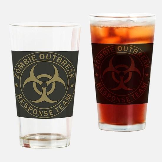 Zombie Outbreak Response Team Tan   Drinking Glass