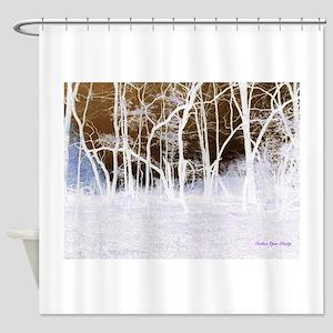 Waving trees (negative) Shower Curtain
