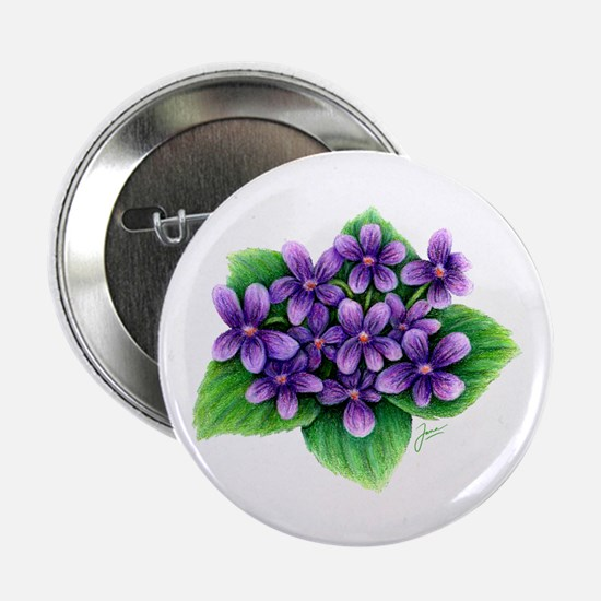 "Violets 2.25"" Button (10 pack)"