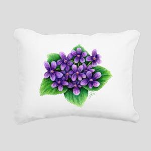 Violets Rectangular Canvas Pillow