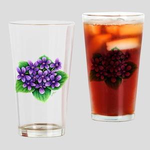 Violets Drinking Glass
