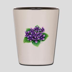 Violets Shot Glass