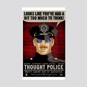 Thought Police Free Speech Fre Sticker (Rectangle)