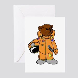 Buzz the Astronaut Bear Greeting Cards (Package of