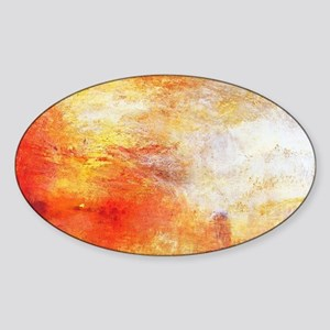 William Turner Sun Setting Over A L Sticker (Oval)