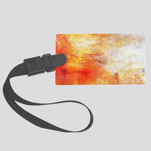William Turner Sun Setting Over  Large Luggage Tag