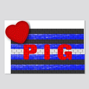 LEATHER PRIDE/PIG/BRICK Postcards (Package of 8)