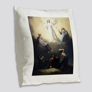 The Spirit of Christ Burlap Throw Pillow