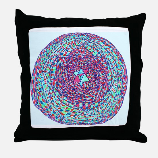 Star of David/Heart Chakra Mandala /  Throw Pillow