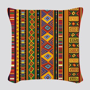 Ethnic Colorful Pattern Africa Art Woven Throw Pil