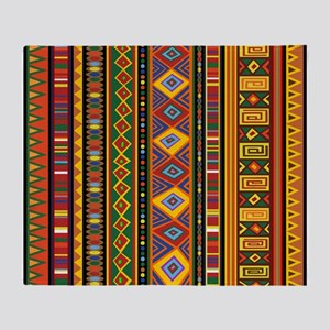 Ethnic Colorful Pattern Africa Art Throw Blanket