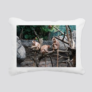 Monkey See, Monkey Do Rectangular Canvas Pillow