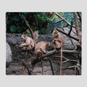 Monkey See, Monkey Do Throw Blanket