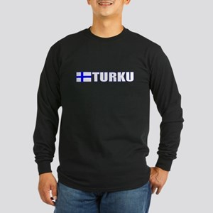 Turku, Finland Long Sleeve Dark T-Shirt