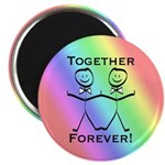 2 Grooms Together Forever Magnet