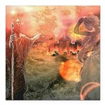 Sodom and Gomorrah Square Car Magnet 3