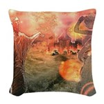 Sodom and Gomorrah Woven Throw Pillow