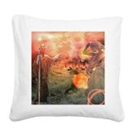 Sodom and Gomorrah Square Canvas Pillow