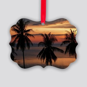 Wonderful Sunset Picture Ornament