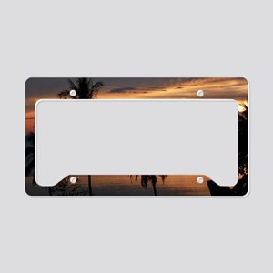 Wonderful Sunset License Plate Holder