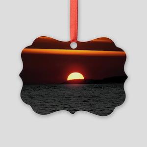 Wonderful Sunset Picture Ornament