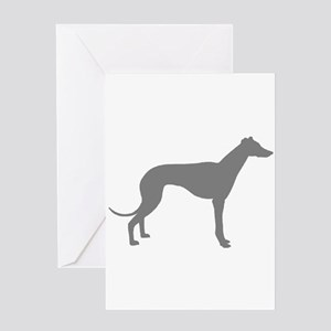 greyhound grey 1C Greeting Cards