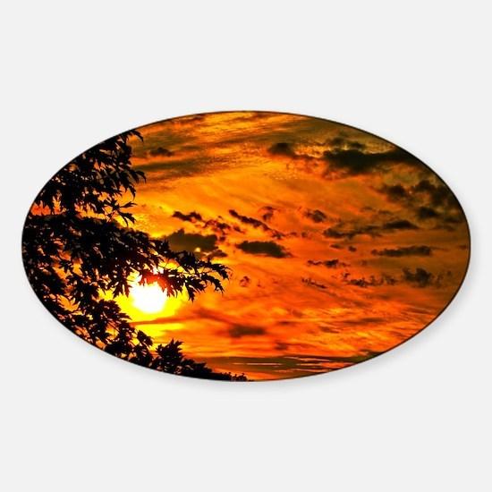 Wonderful Sunset Sticker (Oval)