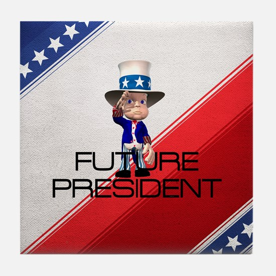 Future President Tile Coaster