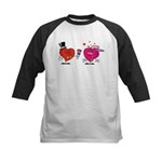 Romantic Heart Giving Flowers Baseball Jersey