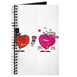Romantic Heart Giving Flowers Journal