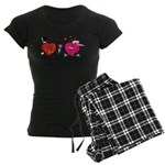 Romantic Heart Giving Flowers Pajamas