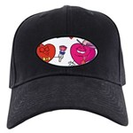 Romantic Heart Giving Flowers Baseball Hat